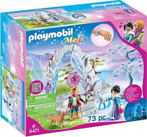 PLAYMOBIL Magic 9471 puerta de cristal al mundo invernal con efecto de luz y pulsera mágica, mayores de 4 años