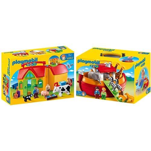 Playmobil 6962 - Mi granja para llevar y 6765 - Mi arca de Noé para llevar