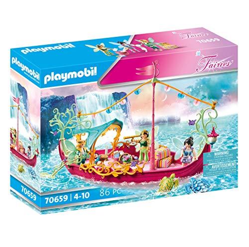 PLAYMOBIL Fairies 70659 Barco de hadas romántico, 4+ años