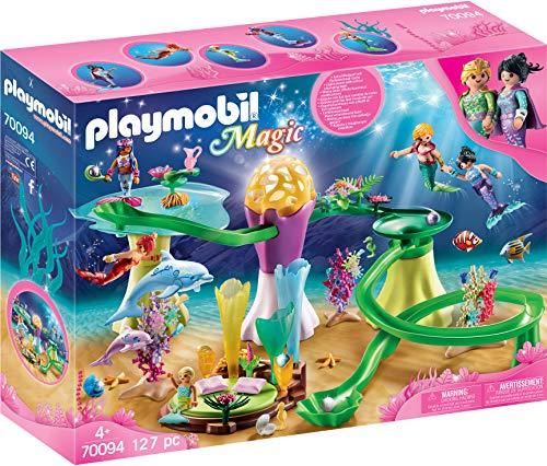 Playmobil Magic 70094 pabellón de coral con cúpula iluminada, mayores de 4 años