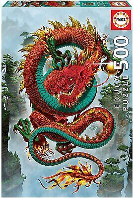 Educa 19003. El dragón de la Buena Fortuna. Puzzle de 500 piezas. 48x34cm