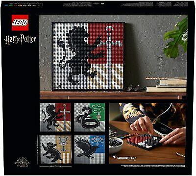 LEGO 31201 Art Harry Potter: Escudos de Hogwarts Póster, Set de Decoración